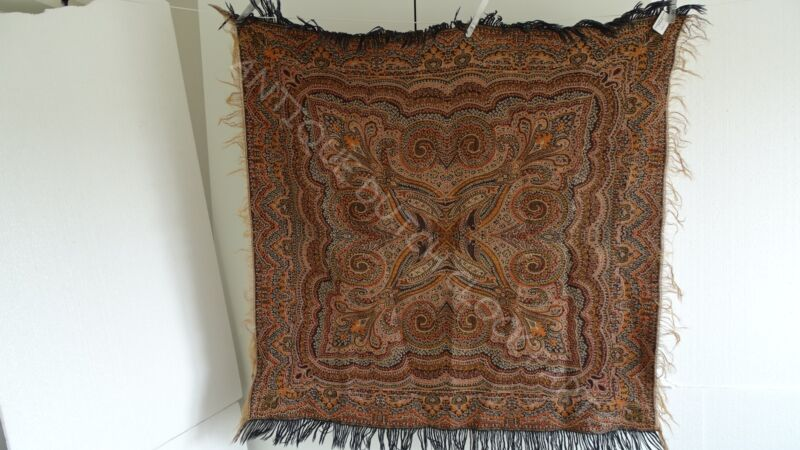 FOLKLORE DUTCH PAISLEY SHAWL OR WORTELDOEK
