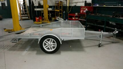 3mm Gal. Steel,7' x 5' Flat Bed Motorbike Trailer Eumemmerring Casey Area Preview