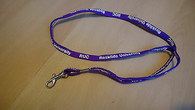 Schlüsselband Roskilde University RUC lila wie neu Lanyard
