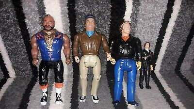 Rare Vintage 1983 The A-Team Galoob Mr T as BA Baracus  Action Figure Toy lot