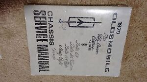 1970 GM Oldsmobile Chassis Service Manual