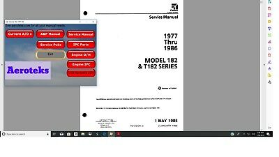 Cessna 182T service maintenance manual library n engine 1977-86 + A/Ds