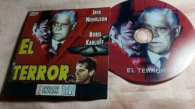 jack nicholson - boris karloff - dvd -(el terror)  - ver fotos, usado segunda mano  Alicante