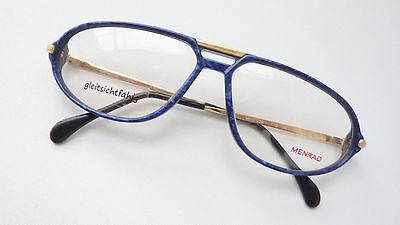 Menrad Vintagebrille Herren Kunststofffassung blau für große Gesichter Gr. L neu