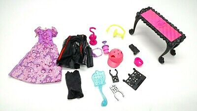 Monster High And Barbie Accessories Clothes Lot Furniture Mattel