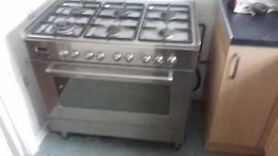 Delonghi 6 ring gas hob 2 shelf electric fan assisted oven 100cm for sale  Cardiff