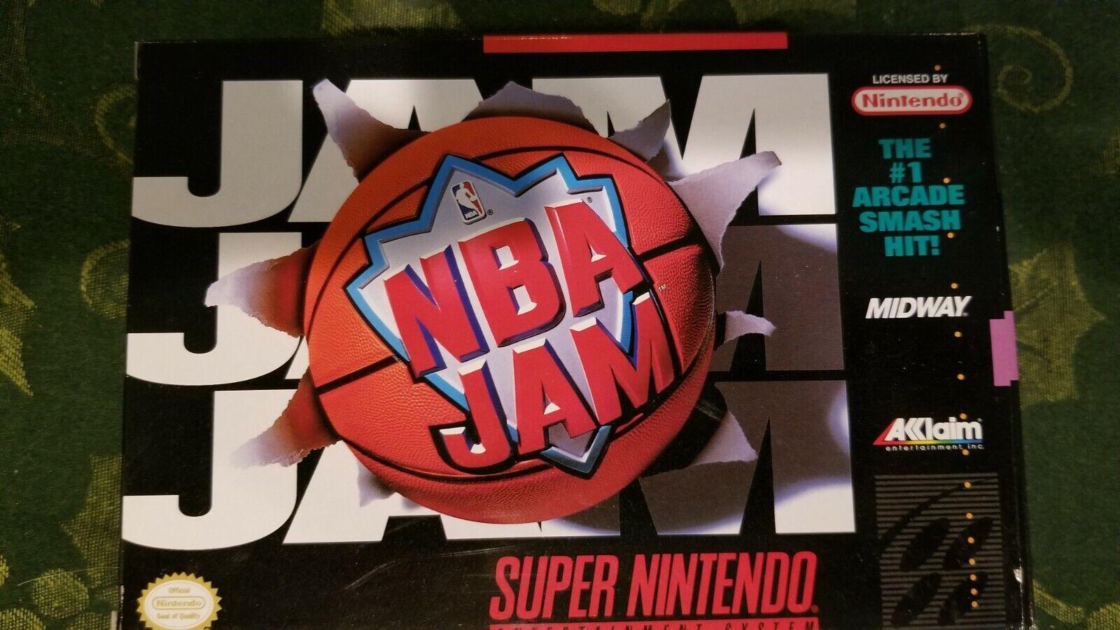 Super Nintendo NBA Jam - Complete In Box - $30.00