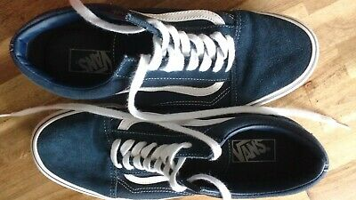 Vans Mens Old Skool UK Size 10 Navy Blue Suede