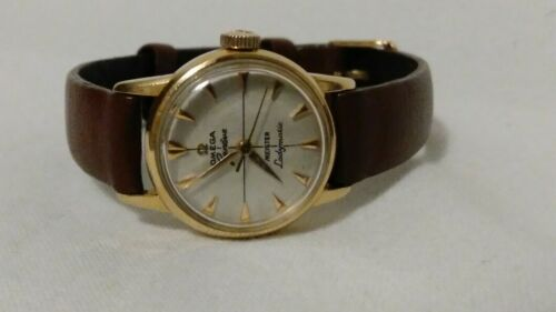 Vintage Omega Ladymatic 18k solid Gold  17 Jewel Wrist Watch runs