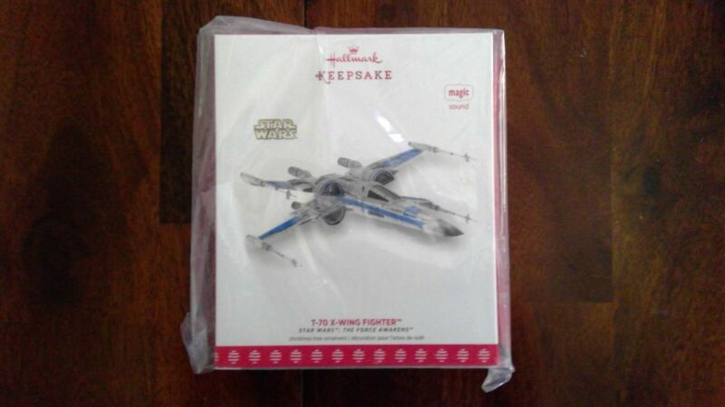 SDCC NYCC Star Wars T-70 X-Wing Fighter Ornament Exclusive 1 of 3275 NIB