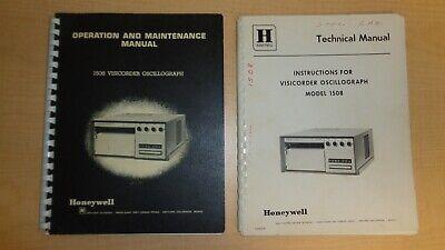 Honeywell 1508 Visicorder Oscillograph Manual Set 6f B2