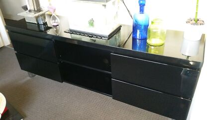 Black High Gloss Entertainment Unit for Sale Wollongong 2500 Wollongong Area Preview