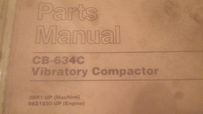 Caterpillar Vibratory Compactor Parts Manual Cb-634c Cat
