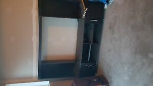 free entertainment unit with removable hutch