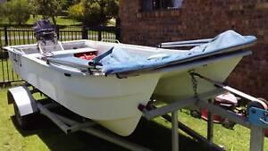 3.8m fibreglass catamaran