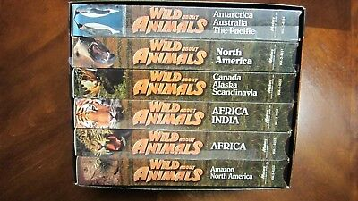 """""""Wild About Animals"""" Set of 6 VHS Video Educational Tapes"""