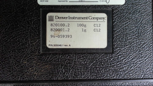 Denver Instrument Company 100g Calibration Weight Set 300048.1