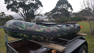 10ft inflatable with outboard Kingston Beach Kingborough Area Preview