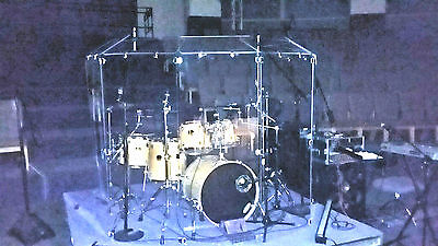 6 Section Drum Shield Panels w/ Deflectors total height 6ft