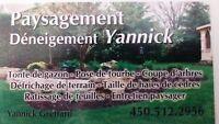 paysagement déneigement Yannick