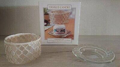 YANKEE CANDLE Champagne pearl Paralume e piattino Small shade and tray