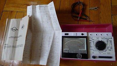 Vintage Analog Multimeter Voltmeter Soviet Ussr C4342 C4342-m1 Chauvin Arnoux