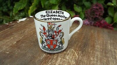 1980  China Queen Mother visit to Newcastle upon Tyne small china mug