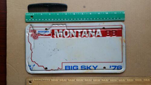 License Plate, Montana, 1976 Bicentennial & 1988, 2 sides, MT reusing 76 Centenl
