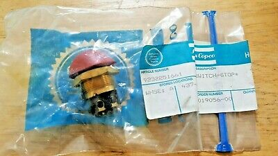 Atlas Copco Air Compressor Push Button Red Stop Switch Part 9232251661