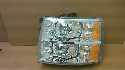 2007-2014 Chevrolet Silverado 1500 2500 3500  LH headlight  OEM Broken mounts