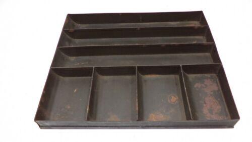 Vintage Metal Cash Register Change Sorting Tray Money Drawer Safe Parts Bin