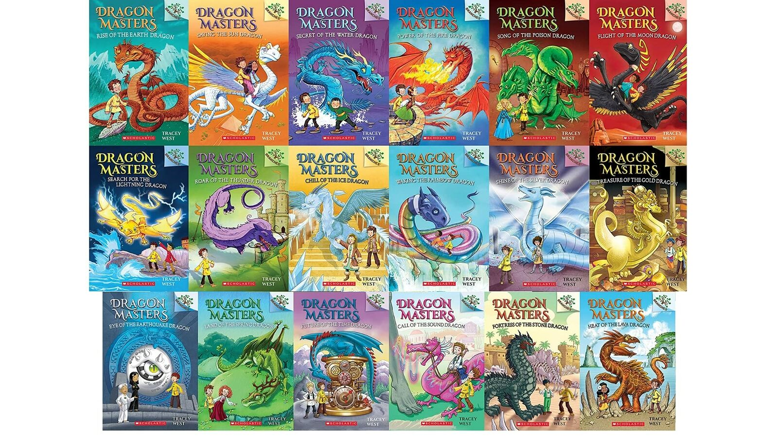 Dragon Masters Series Set (Books 1-19) by Tracey West NEW Paperback
