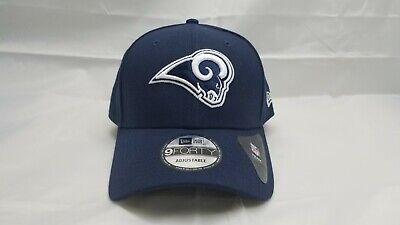 NEW ERA 9FORTY ADJUSTABLE HAT.  NFL.  LOS ANGELES RAMS.  NAVY BLUE.