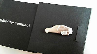 BMW Logo Auto Pin Badge 3 er Compact neu in Originalverpackung OVP