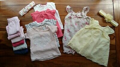 Baby Girl Summer Play Clothes Bundle 0-3 Months 14 pieces VGUC