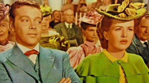 "Betty Grable ~ The Shocking Miss Pilgrim~ Original Lobby Card ~ 14"" x 11"""