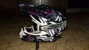 Shoei vfx-w tc10 crosshairs motocross moto-x dirt bike helmet