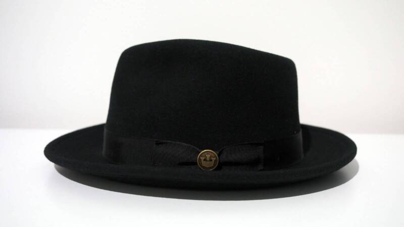 7abc3837f183c Goorin Bros The Doctor Black Wool Fedora Hat sz M Made in USA NEW ...