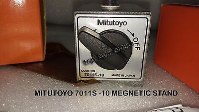 New Mitutoyo Magnetic Base 7011s -10 For Dial Indicator Gauges Made In Japan.