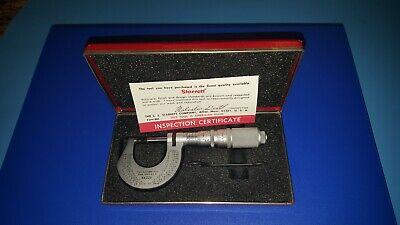 Nice L.s Starrett 221 Hi-precision .0001 Carbide Tipped Micrometer 0-1