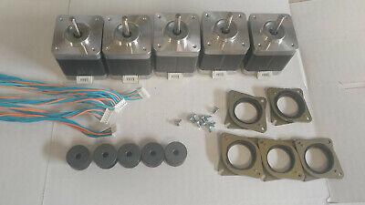 5 X Stepper Motor Nema 17 - 76 Ozin Cnc Mill Robot Reprap Makerbot Gt2 2mm P5v