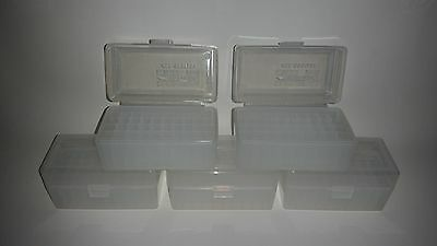 BERRY'S PLASTIC AMMO BOXES (5) CLEAR 50 ROUND 223 / 5.56 - FREE SHIPPING
