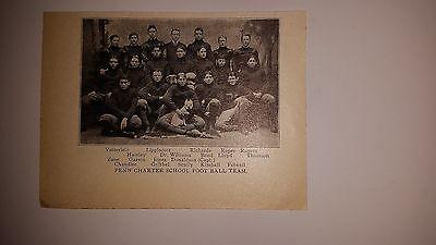 Penn Charter School 1899 Football Team Picture