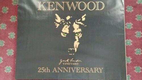Kenwood Vineyard 22 x 28 black 25th anniversary poster Jack London wolf w green
