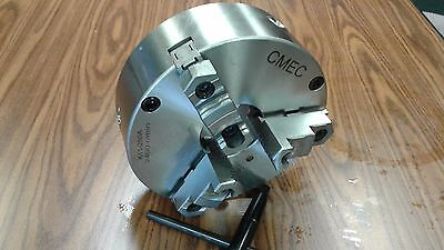10 3-jaw Self-centering Chuck Plain Back Front Mounting For Rotary Tables