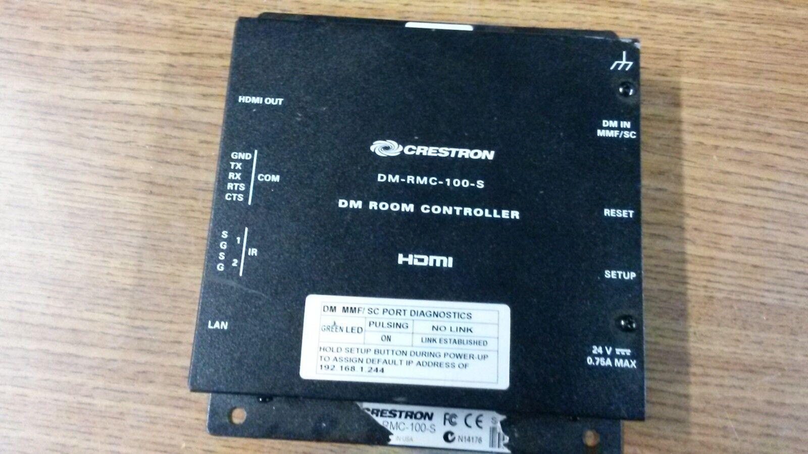 Crestron DM-RMC-100-S DigitalMedia 8G Fiber Receiver Room Controller w/ Charger