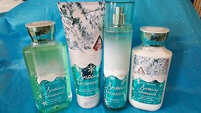 BATH AND BODY WORKS SNOWY MORNING COLLECTION**2018 CHRISTMAS SCENT***