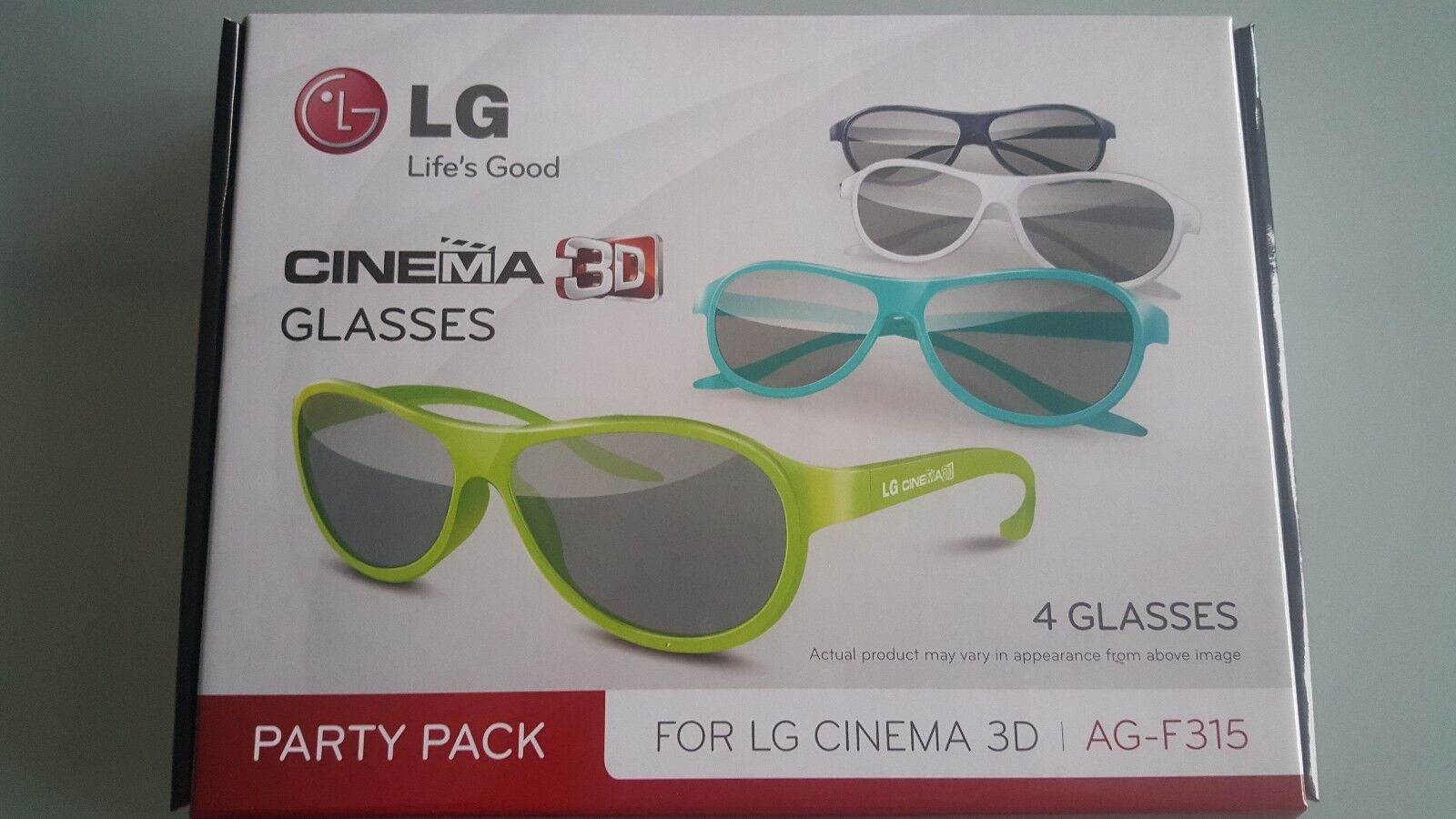 LG AG-F315 3D Brillen Party Pack NEU