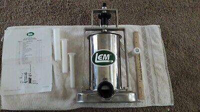 Lem 5 Pound Stainless Steel Vertical Piston Heavy Duty 606 Sausage Stuffer
