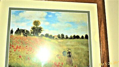 The Poppy Field near Argenteuil, 1873 by Claude Monet. Framed Art Print  Poppy Field Argenteuil